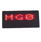 Eksitdata - Red Scrolling LED Name Badge