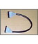 Round floppy-cable, 42cm, colour black and grey